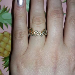 18k Gold Pave Love Ring size 7